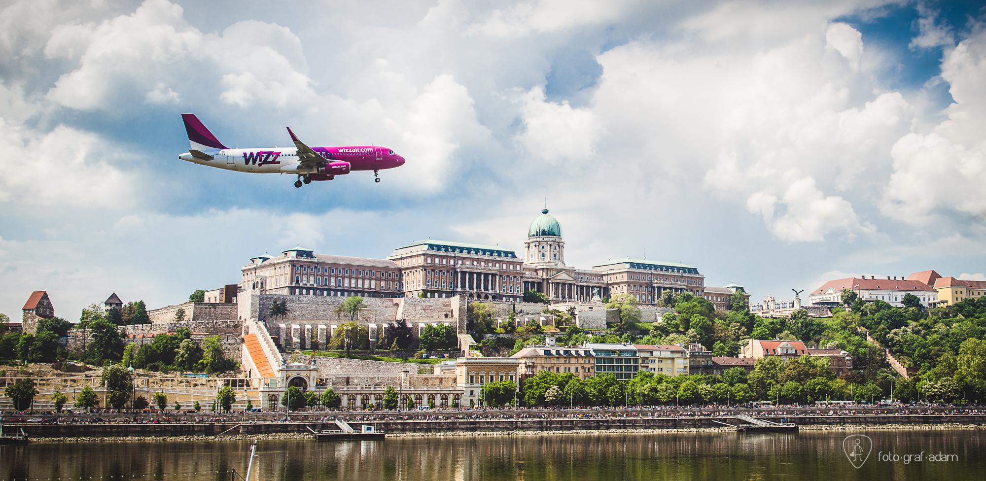 WizzAir airbus a Duna felett - Graf Ádám